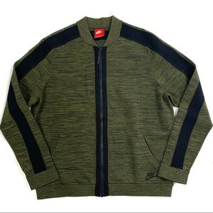 Nike | L | Green Tech Knit Bomber Jacket